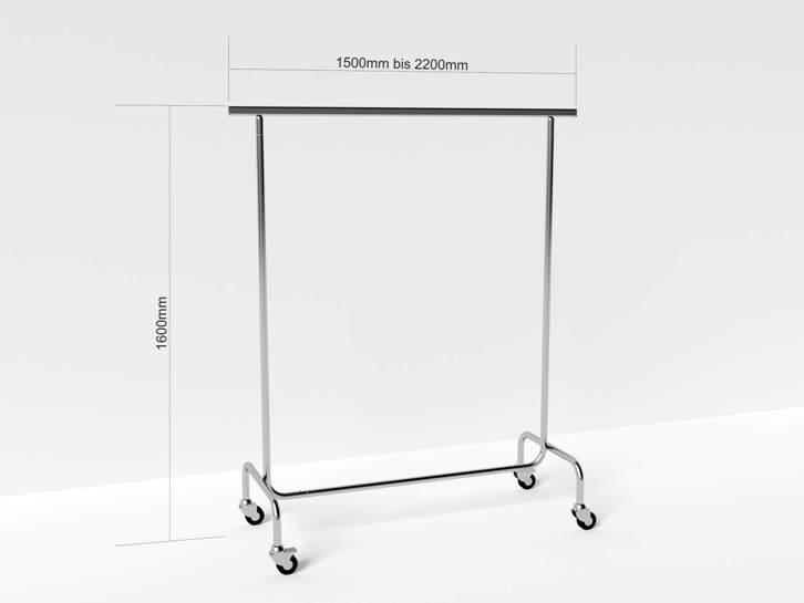Kleiderst nder rollgarderobe kleiderstange garderobe for Garderobe 220 cm